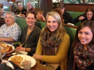 Graduate students in Speech Pathology on a MnCAN outing